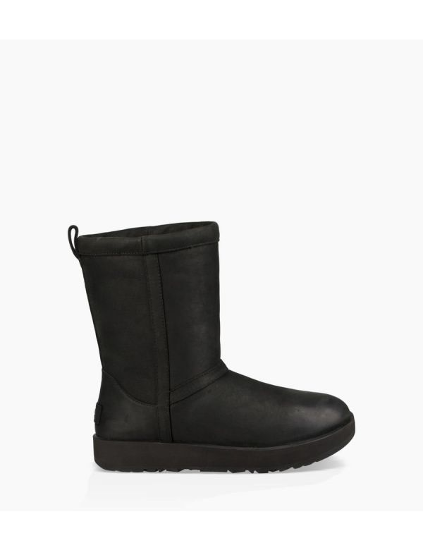 ugg women's classic short waterproof black