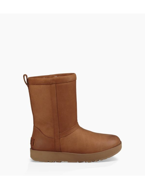 ugg women's classic short waterproof chestnut