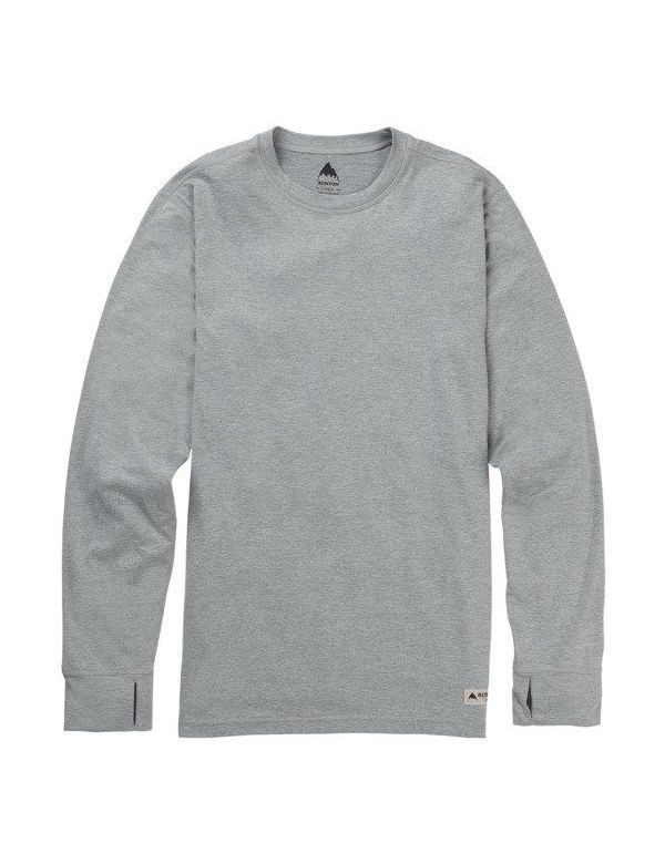 BURTON MID-WEIGHT CREW BASE LAYER Monument heather