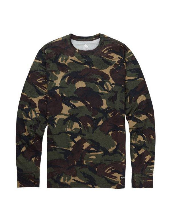BURTON MID-WEIGHT CREW BASE LAYER Seersucker camo