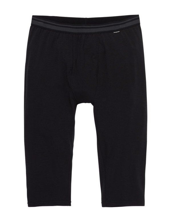 BURTON MID-WEIGHT SHANT BASE LAYER PANTS True black