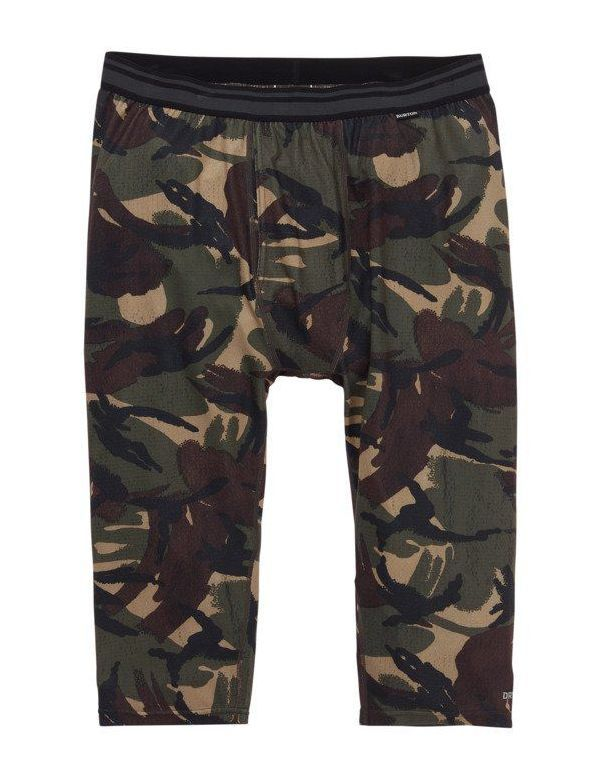 BURTON MID-WEIGHT SHANT BASE LAYER PANTS Seersucker camo