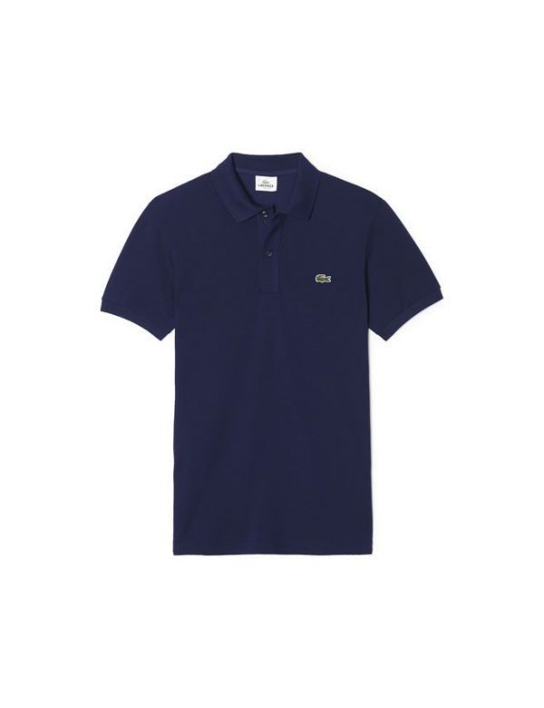 LACOSTE SLIM FIT POLO navy blue