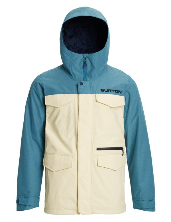 BURTON COVERT JACKET Almond milk/Storm blue