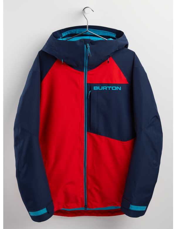 BURTON GORE-TEX RADIAL INSULATED JACKET Flame Scarlet / Dress Blue