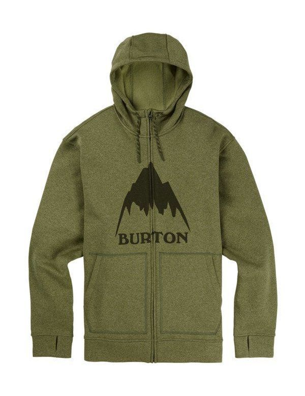 BURTON OAK FULL ZIP Clover heather