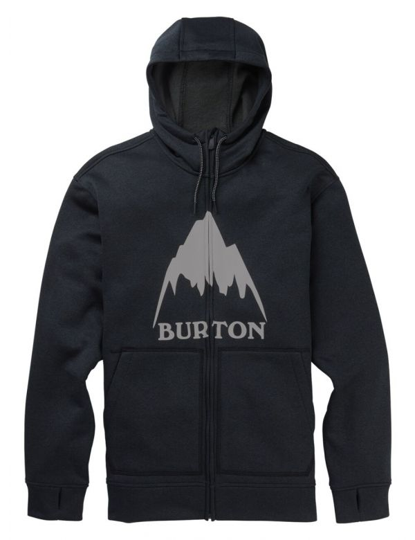 BURTON OAK FULL-ZIP HOODIE Mountain true black heather