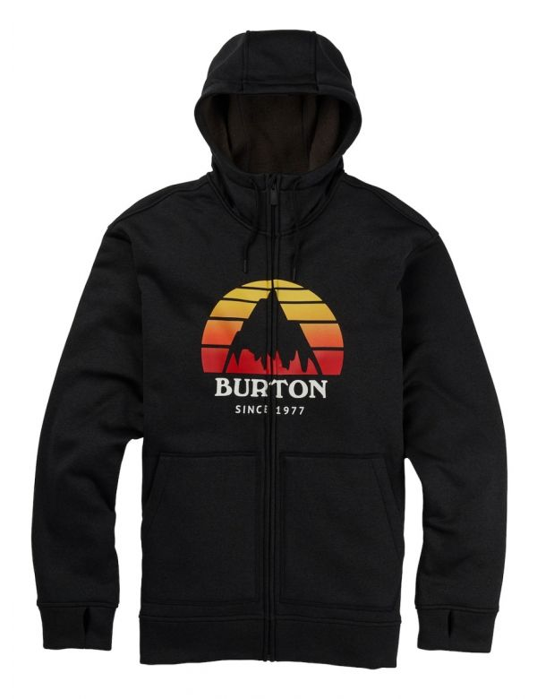 BURTON OAK FULL-ZIP Sunset true black heather