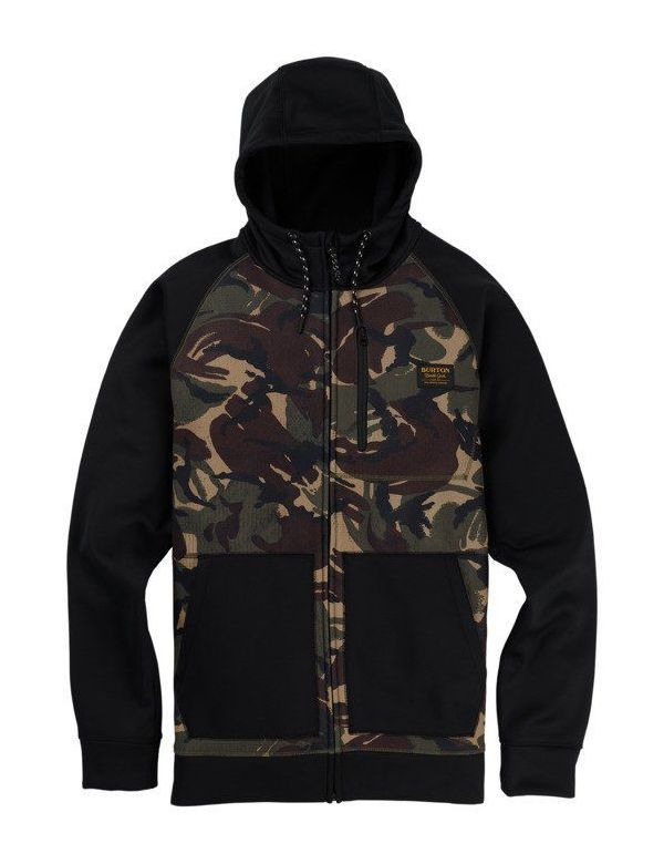 BURTON CROWN BONDED FULL ZIP Searsucker camo black