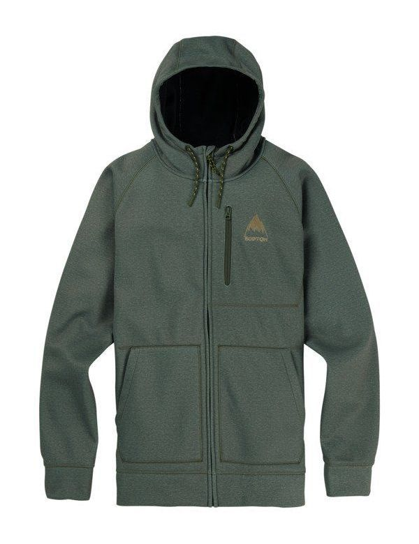BURTON CROWN BONDED FULL ZIP Forest heather