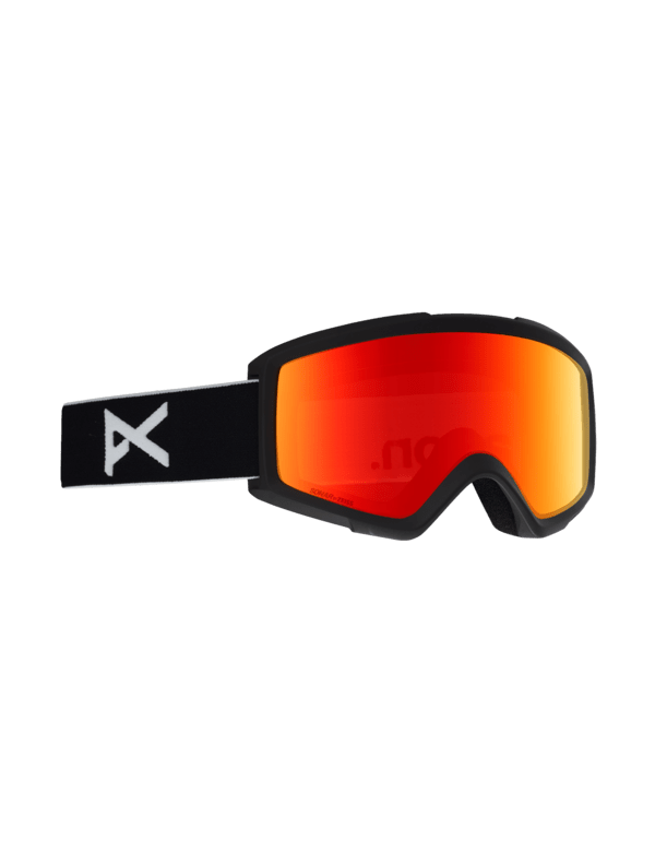 ANON HELIX 2.0 BLACK SONAR RED + SPARE LENS
