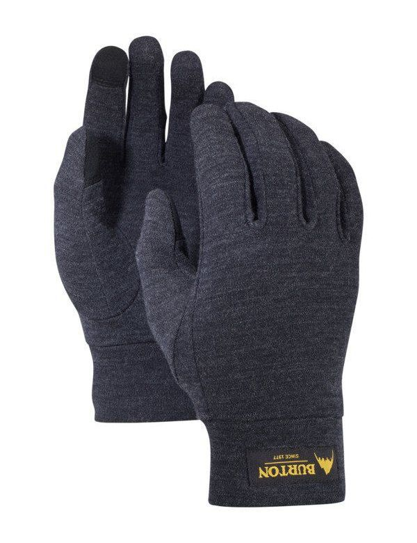 BURTON MERINO WOOL LINER GLOVE True black