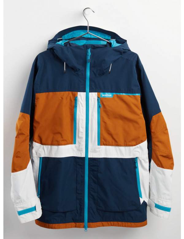 BURTON MEN'S FROSTNER JACKET Dress Blue / True Penny / Stout White