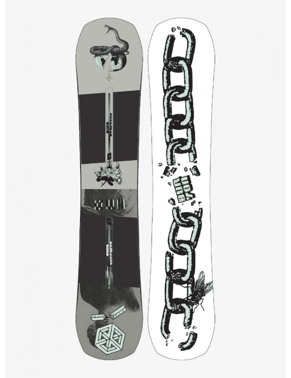BURTON NAME DROPPER CAMBER BOARD grey