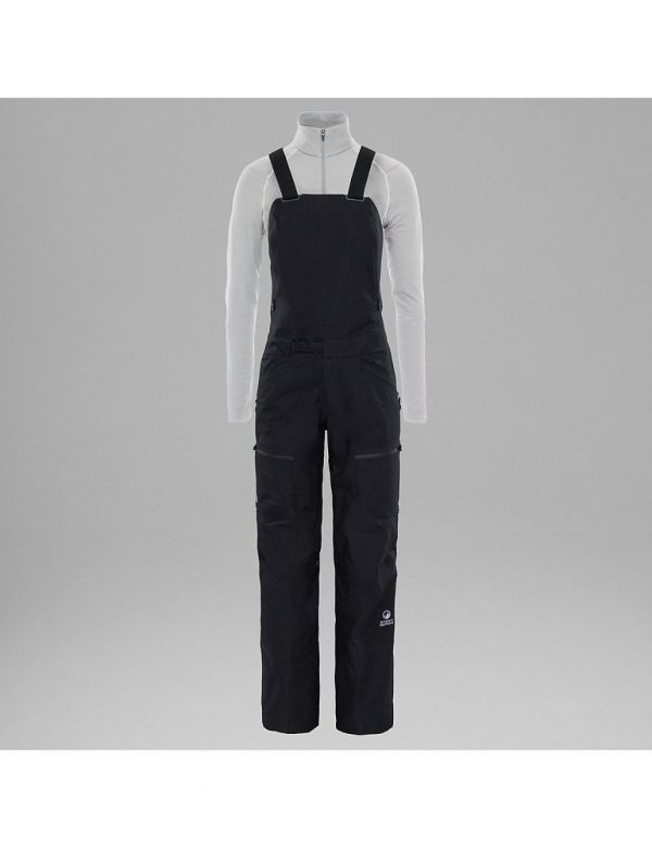 the north face w bib pant salopette black