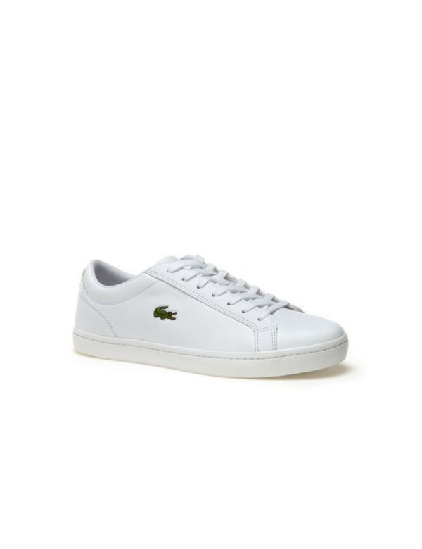 LACOSTE MEN'S STRAIGHTSET LEATHER white