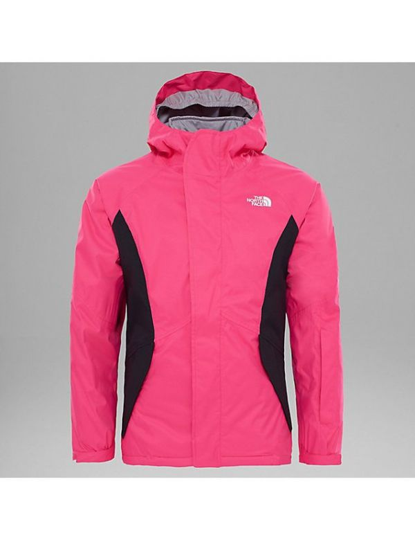 the north face kids pink boundary jacket