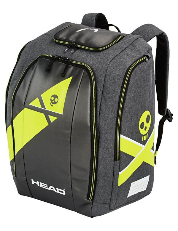 Head rebels racing backpack black yellow antracite