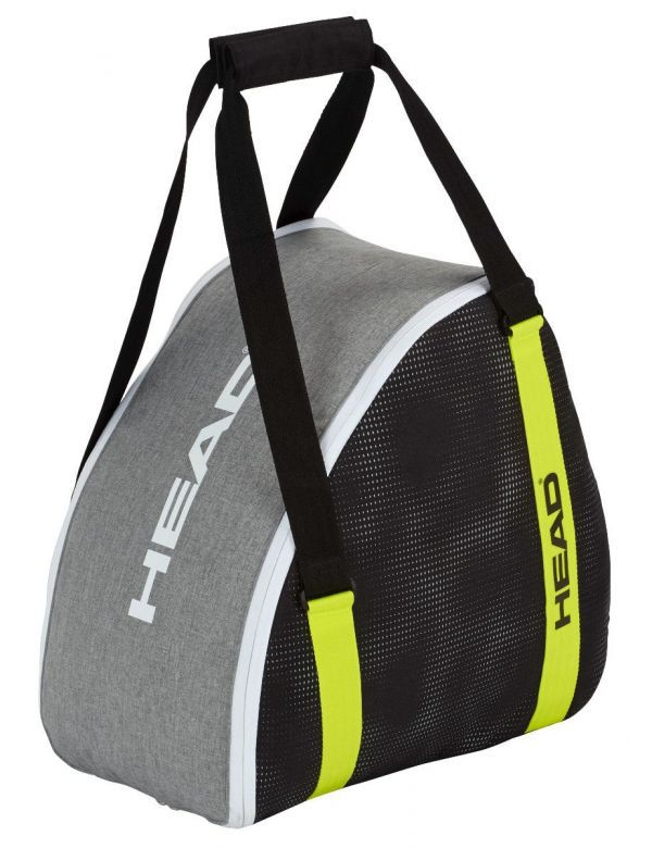 head boot bag grey yellow