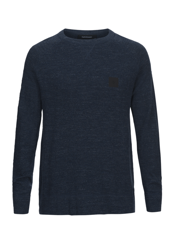 peak performance men's thyler crew neck blue steel