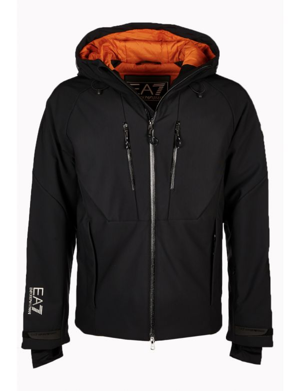 ARMANI-EA7-PADDED-SKI-JACKET-BLACK-ORANGE
