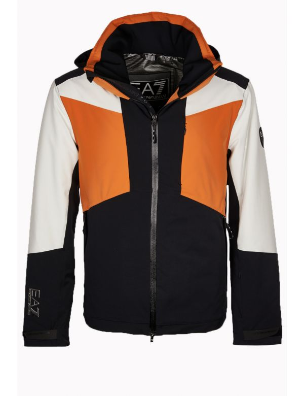 ARMANI-ea7-ski-jacket-black-orange