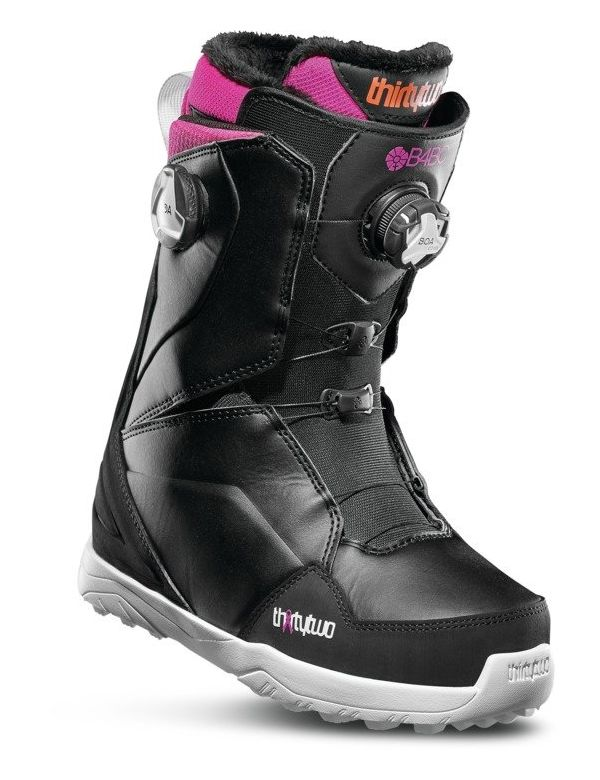 THIRTYTWO WOMEN'S LASHED DOUBLE BOA Black pink white