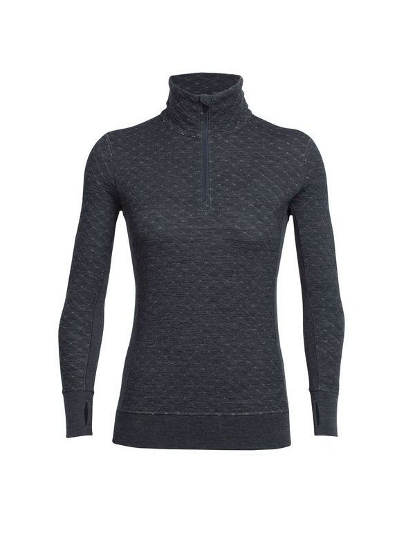 ICEBREAKER WOMEN'S AFFINITY THERMO LONG SLEEVE HALF ZIP