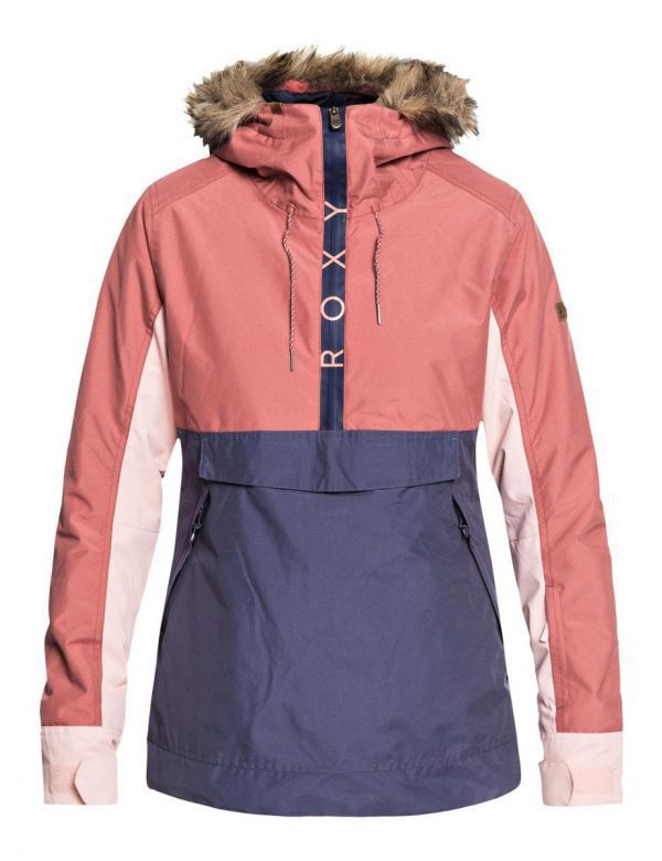 ROXY SHELTER ANORAK JACKET Dusty cedar