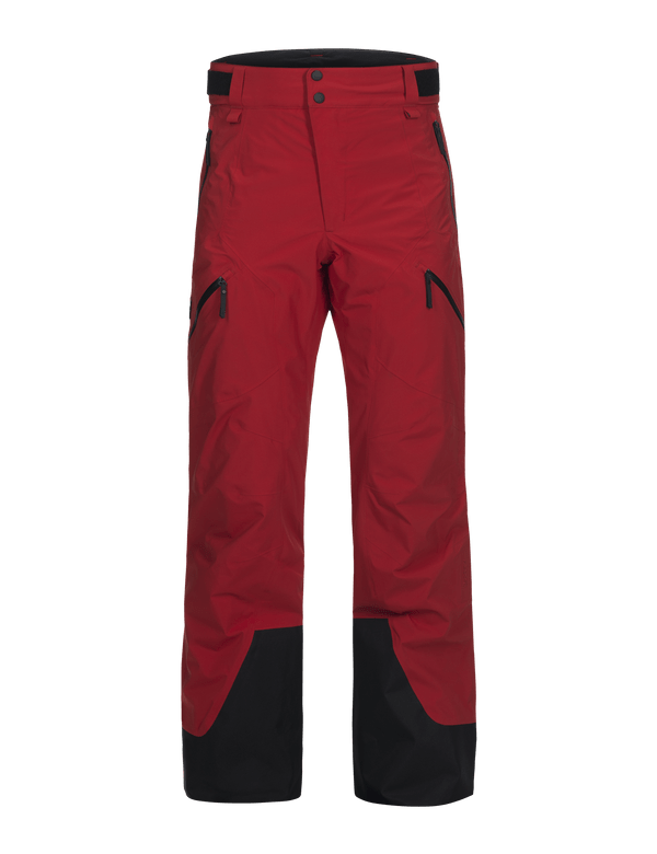 PEAK PERFORMANCE MEN'S 2 LAYER GORE TEX GRAVITY PANTS Red pompeian