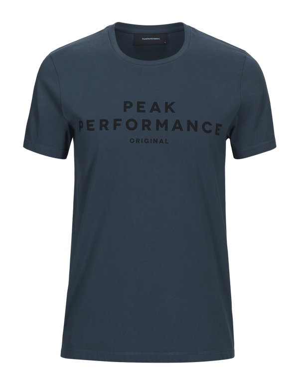 peak performance men's original tee blue steel blauw