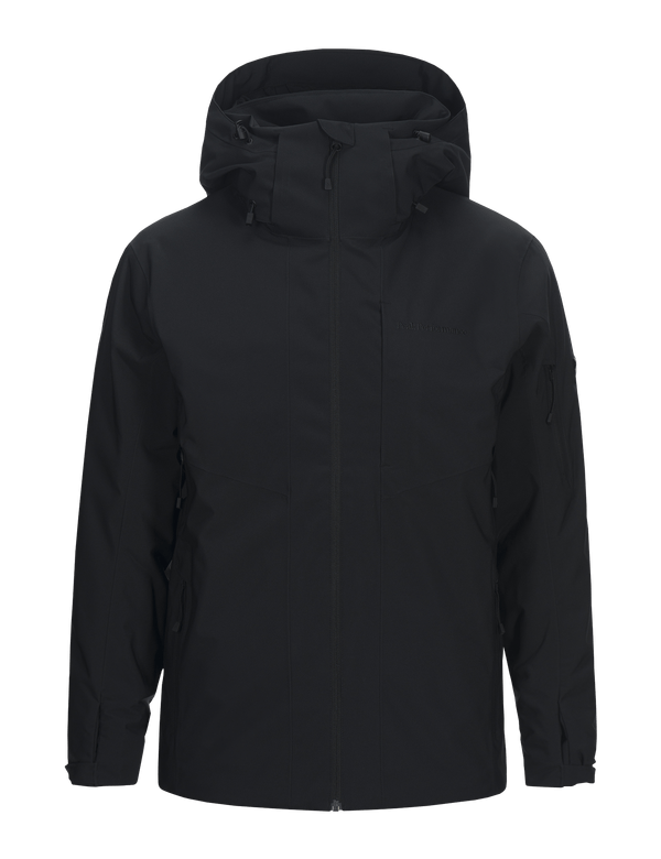 peak performance men's maroon jacket black