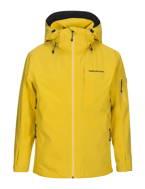 peak performance Men's Padded HipeCore+ Maroon Ski Jacket Desert Yellow / 75J