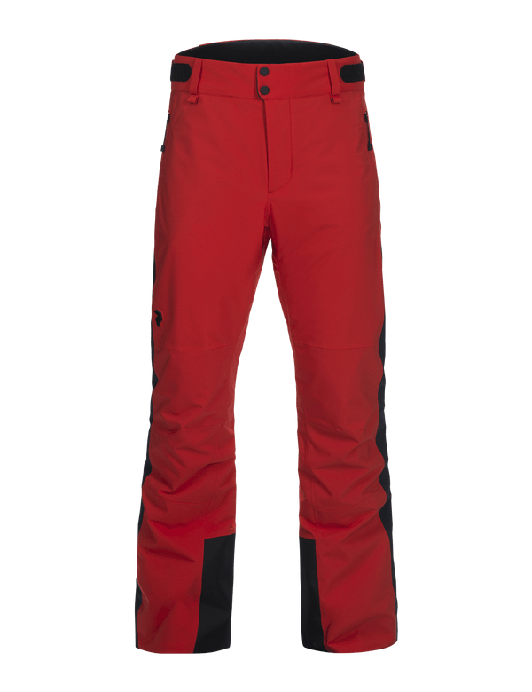 Peak performance men's padded hipecore maroon race ski pant dynared