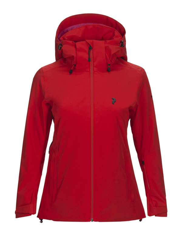 peak performance women's anima jacket red