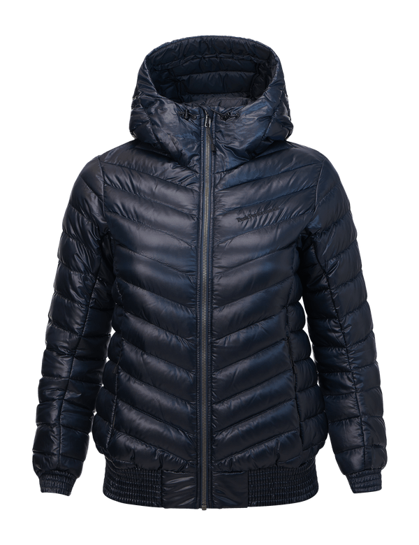 Peak performance women's ice down jacket salute blue