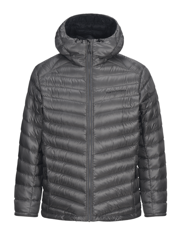 peak performance men's duck down hooded ski jacket quit zilver