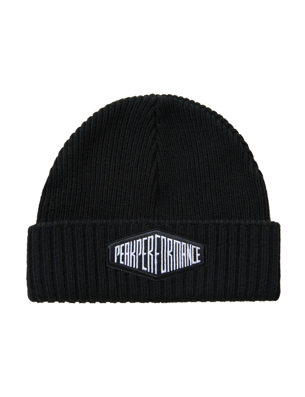 PEAK PERFORMANCE UNISEX RIBBED KNITTED VOLCAN HAT black