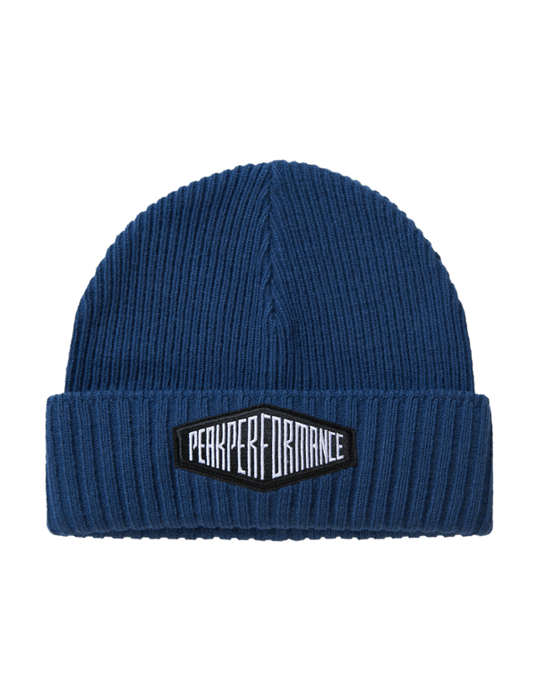 PEAK PERFORMANCE UNISEX RIBBED KNITTED VOLCAN HAT decent blue