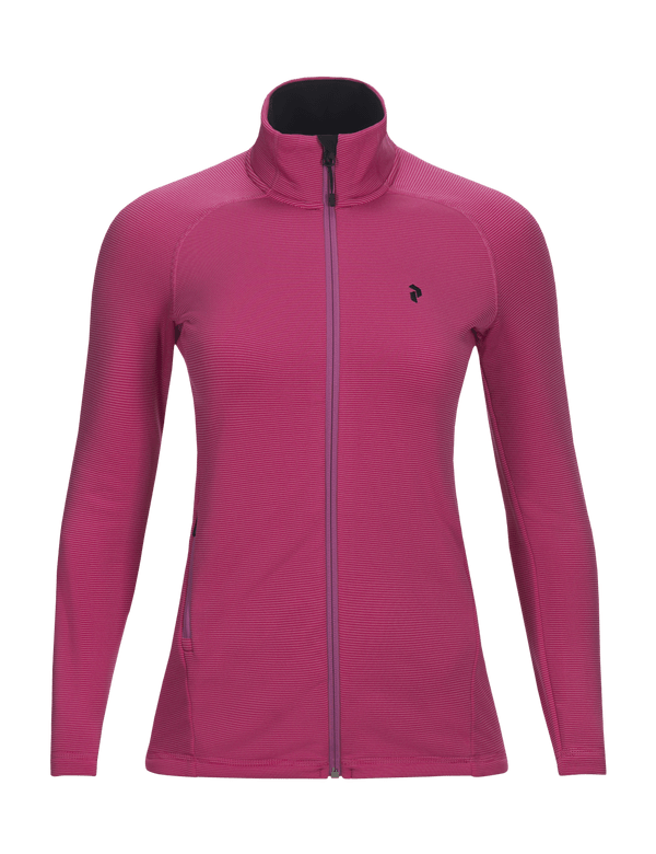 Peak performance women's waitara zip vibrant pink