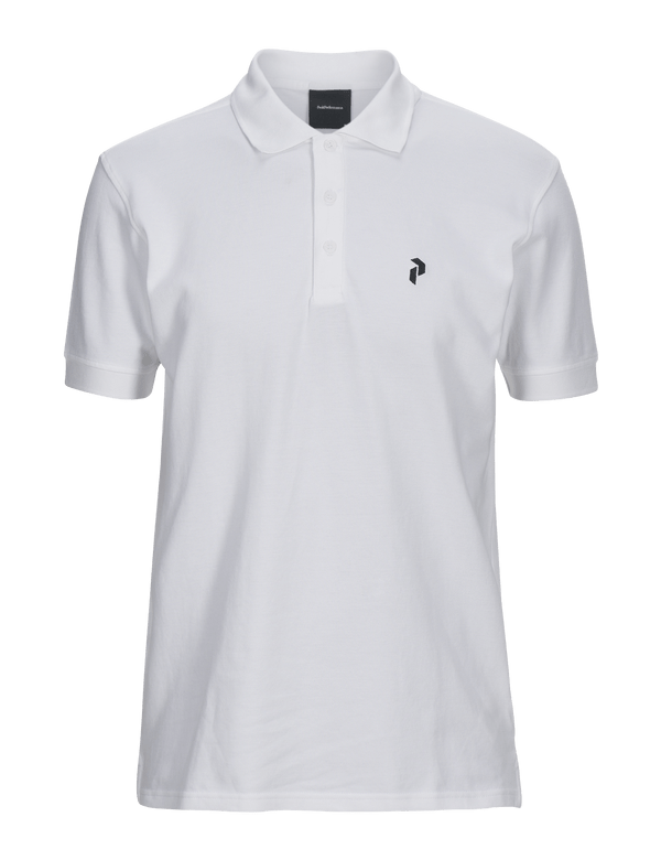 peak performance classic pique polo white