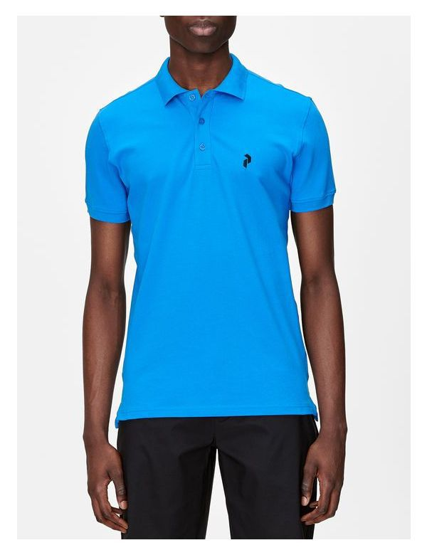 peak performance men's classic pique polo blue bird