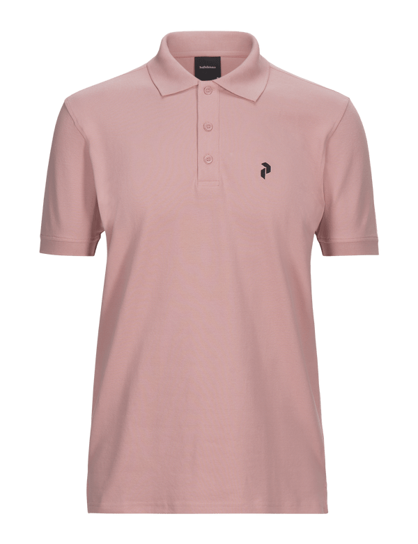 peak performance men's classic golf pique polo warm blush