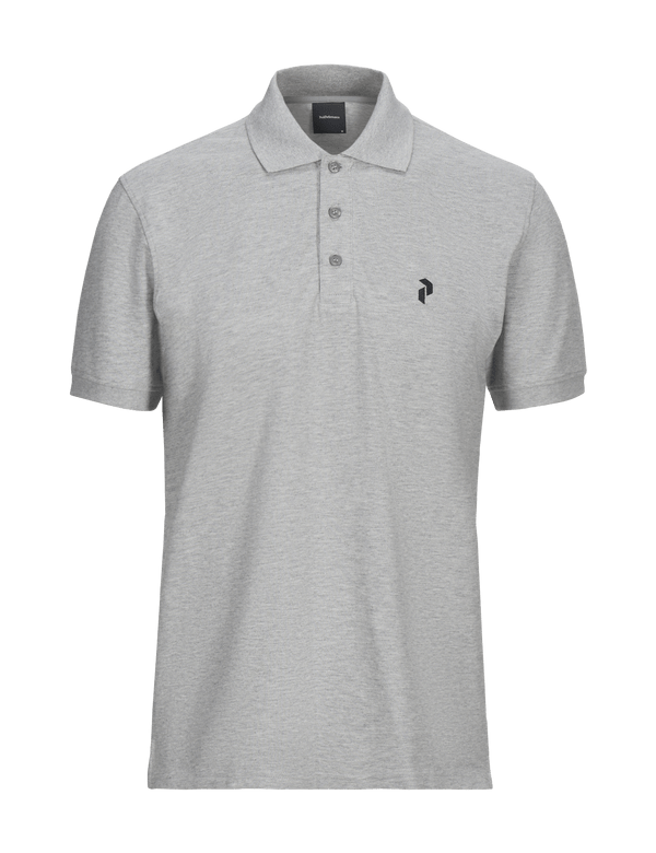peak performance men's classic pique polo grey melange