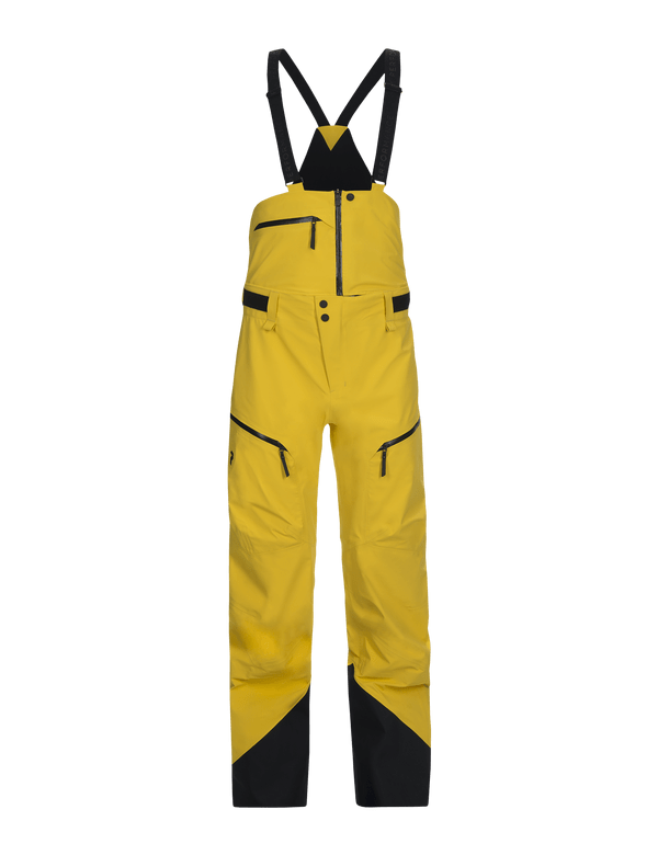 peak performance vertical bib pant desert yellow