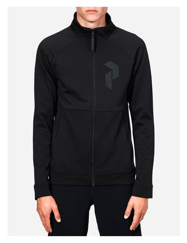 peak performance pulse zip up midlayer black
