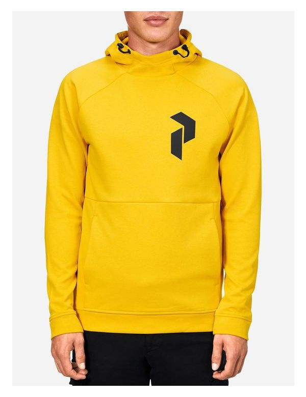 Peak performance men's pulse hood desert yellow