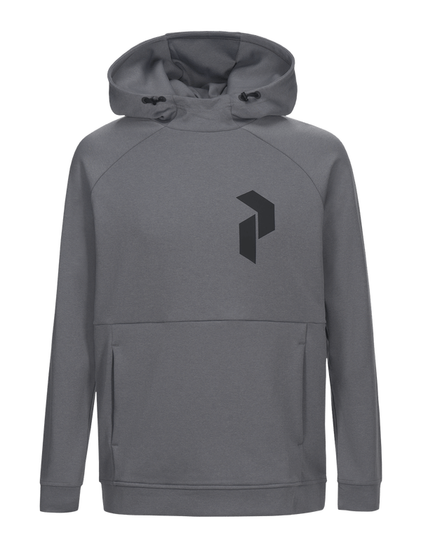 Peak performance men's pulse hood grey melange