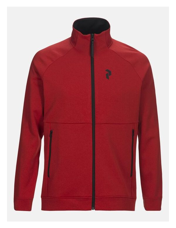 peak performance men's pulse zip dark chilli