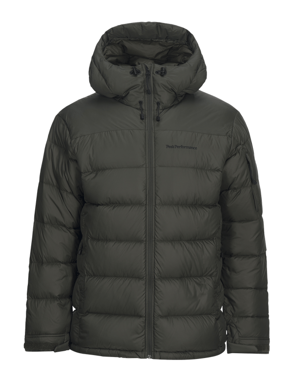 Peak performance frost down pertex jacket forest green